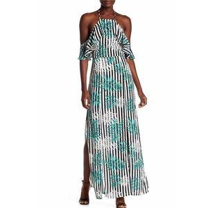 Boutique :: Ruffle Palm Print Maxi Dress